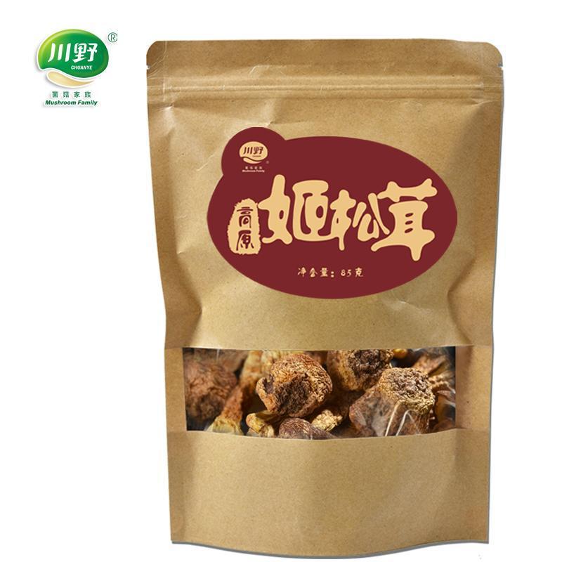 川野甘孜高原姬松茸干货85g非云南特产仿松茸菌菇无硫新鲜巴西蘑菇