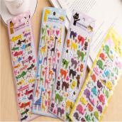 韩国创意手机通用贴纸 可爱卡通动物日记本装饰贴 DIY立体泡泡贴