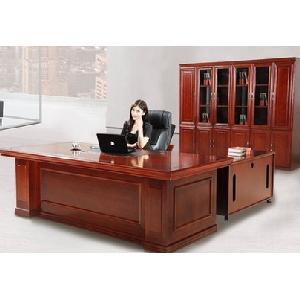 办公家具实木贴皮大板桌 老板桌椅总裁桌 老板办公桌 主管桌