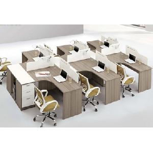 办公家具办公桌4人简约现代板式屏风工作员工位组合职员桌椅特价