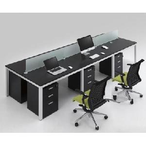 办公家具钢木组合职员桌职员卡座4人位办公桌屏风隔断员工桌
