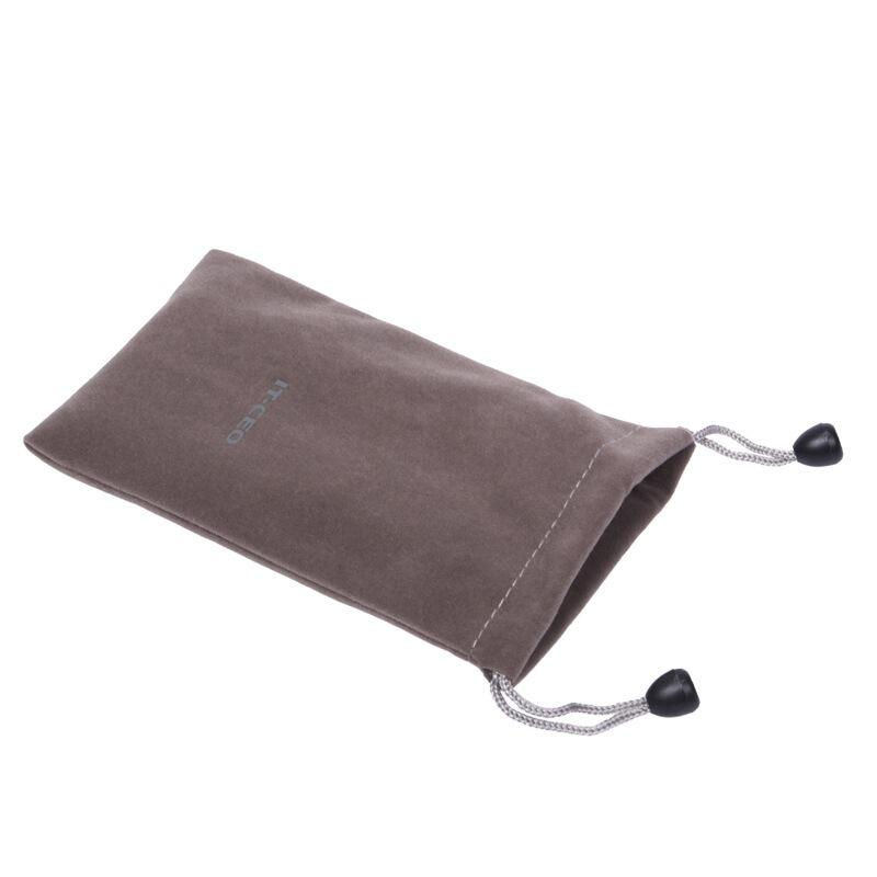 IT-CEO V311-A 移动硬盘包保护套 耳机电子产品配件数码包 手机数据线绒布收纳袋 灰色