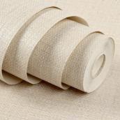 纸善纸美壁纸 客厅墙纸素色防水壁纸 简约家装现代条纹仿亚麻墙纸