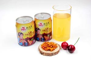 藏家媳妇特产藏地传奇四姑娘山沙棘果汁无糖型VC饮料听包邮四川