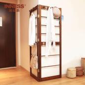 衣服架子落地挂衣架转角实木衣帽架简约创意卧室衣服架壁挂置物架