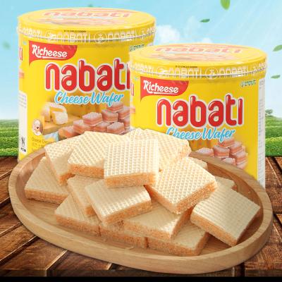 印尼进口零食 丽芝士nabati芝士威化纳宝帝奶酪威化饼干2罐*350g