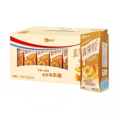 蒙牛真果粒 黄桃口味礼盒装 250mlx12盒 x 【预售商品,年后2.10之后发货!!!