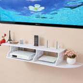 电视客厅机顶盒架壁挂隔板墙上置物架路由器架子墙壁装饰 免打孔