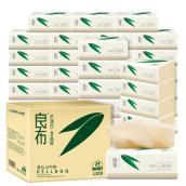 良布竹韵系列 竹浆本色面巾纸100抽*24包母婴专用抽纸(3层)