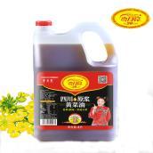 4L原浆黄菜籽油 弯月亮 非转传统小榨 家庭用油 四川特产