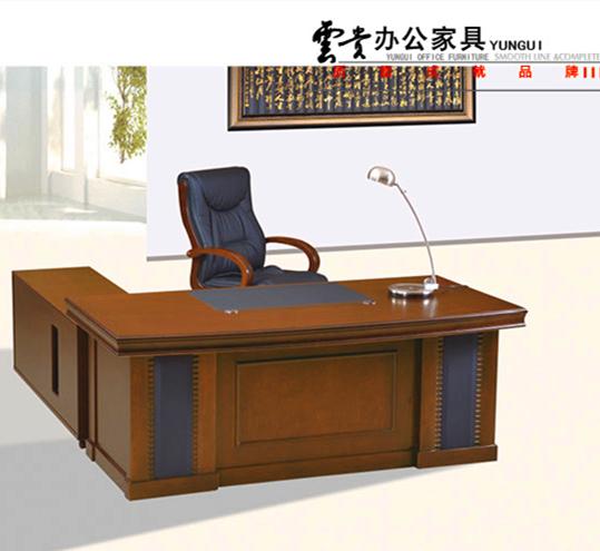 云贵办公家具直面班台实木皮YG-BT009(1800Wx900Dx760H)