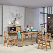 柏家居80s 纯柏木实木家具BL-0A02餐桌