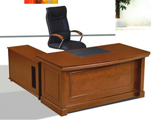 云贵办公家具弧形班台实木皮YG-BT005(1800Wx850Dx760H)