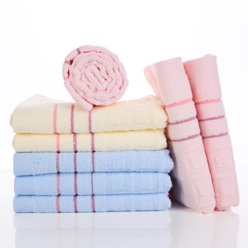 9812无捻提花纯棉超柔高吸水毛巾特价16.8包邮送方巾