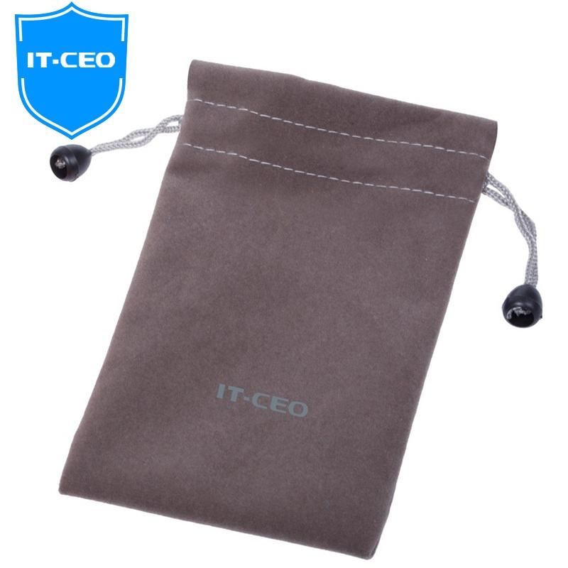IT-CEO V315-A 移动硬盘包保护套 耳机电子产品配件数码包 手机数据线网布收纳袋 灰色