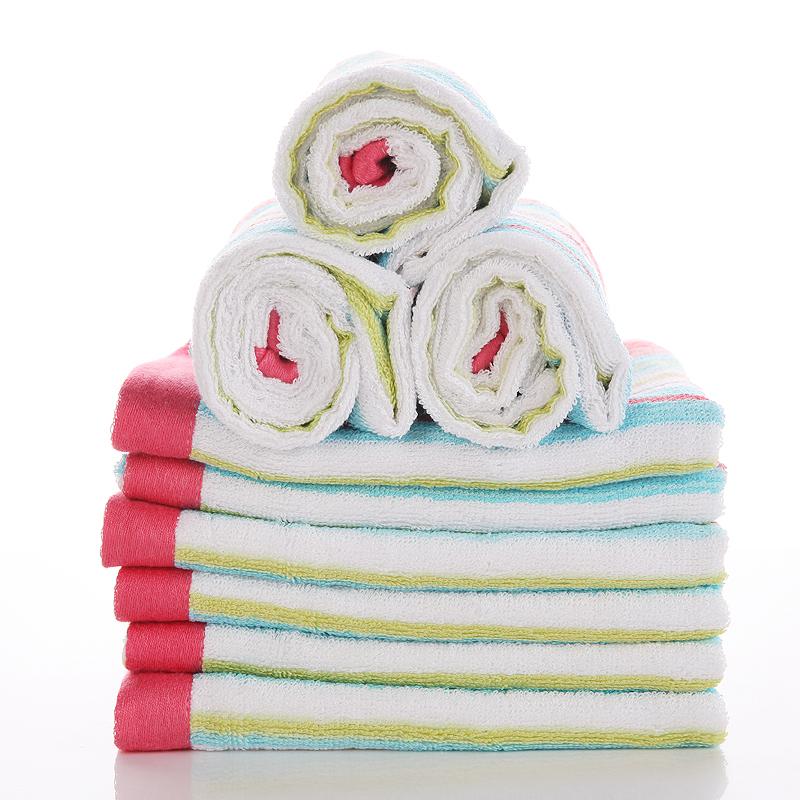 6306超柔软高吸水竹纤维条纹毛巾10条100元包邮哟