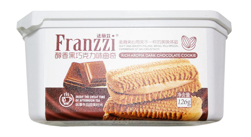 法丽兹 醇香黑巧克力味曲奇126g