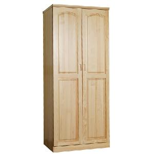 名松屋全实木双门平板衣柜 AS-9932