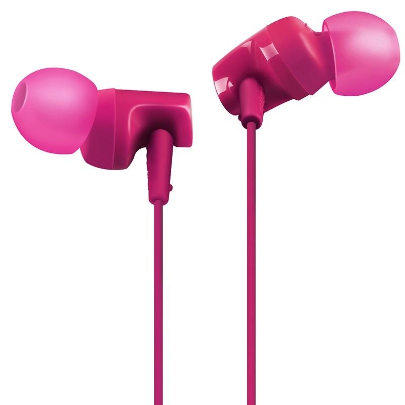 铁三角(Audio-technica)ATH-CLR100is PK 入耳式线控通话耳机 智能手机专用耳麦 粉红色