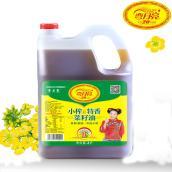 小榨特香菜籽油  弯月亮4L 非转基因 传统小榨 家庭用油 四川特产