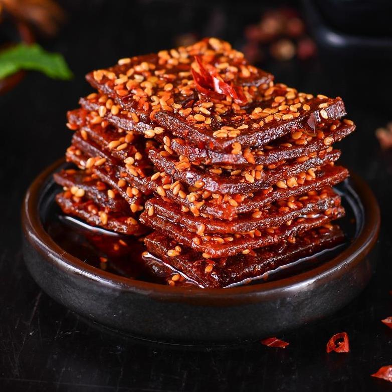 老川东麻辣猪肉脯 四川特产休闲零食小吃 猪肉干靖江猪肉片300g