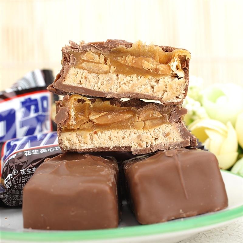 【优品超市】士力架花生夹心巧克力(分享装)糖果巧克力休闲零食140g