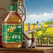 中粮福临门非转基因家香味浓香压榨菜籽油 5L