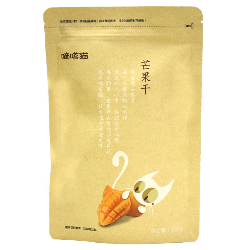 【优品超市】嘀嗒猫 芒果干 办公室休闲零食蜜饯果脯水果干 100g