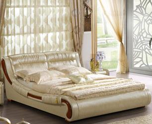 真皮双人床 卧室家具
