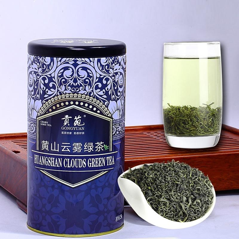【优品超市】贡苑 茶叶 绿茶 黄山云雾绿茶罐装 250g/罐