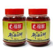 【2件包邮特惠】新希望味业旗下福猴郫县红油豆瓣塑瓶1kgX2 北纬30度自然发酵