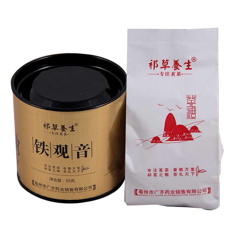 【优品超市】祁草养生 茶叶 乌龙茶 安溪铁观音 55克/罐