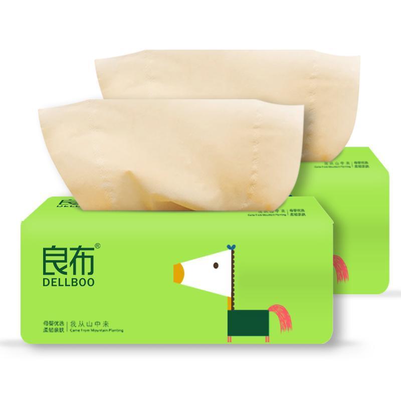 【爆款组合装】良布卡通系列不漂白纸巾抽纸40包 无芯卷纸12卷 (市场价79.9元)