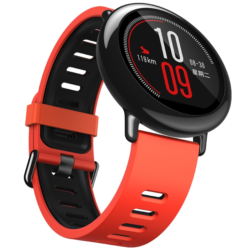 Amazfit 智能运动手表 华米科技出品 陶瓷表圈 GPS实时轨迹 红色硅胶腕带 支持iOS、Android系统