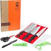 胡子王金门菜刀喜迎门七件套 不锈钢刀具套装厨房菜刀套装组合