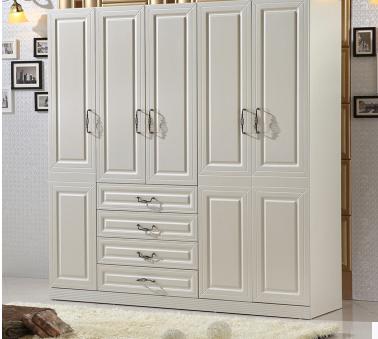 简约田园简易宜家家具衣柜两门三门四门五门白色组合组装板式衣柜