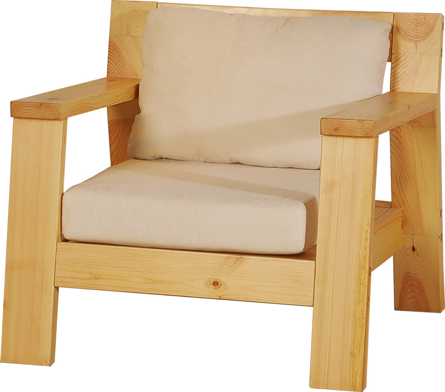 名松屋全实木单人沙发(配垫子)AS-5712-1